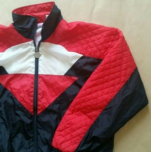 Vintage Members Only quilted red nylon jacket